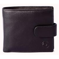 MALA BLACK LEATHER WALLET WITH RFID BLOCKING
