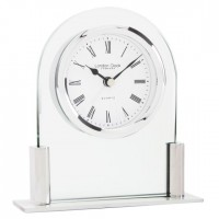LONDON CLOCK GLASS MANTEL CLOCK & ALARM 17125 WAS £35