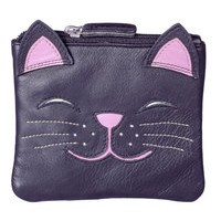 ROSIE THE CAT MALA LEATHER COIN PURSE