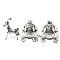 FIRST TOOTH AND CURL CINDERELLA CARRIAGE SILVER PLATED GIFT BOXED