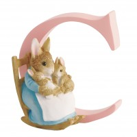 BEATRIX POTTER LETTER C MRS RABBIT AND BUNNIES BRANDED BOX