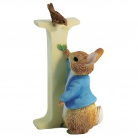 BEATRIX POTTER LETTER I PETER RABBIT FIGURINE BRANDED BOX