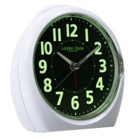 LONDON CLOCK LUMINOUS WHITE ALARM CLOCK 4174 WAS £22.00 OUR PRICE