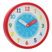 CHILDRENS WALL CLOCK TIME TEACHER UNISEX BY LONDON CLOCK COMPANY BOXED RRP £22.50