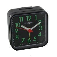 ALARM CLOCK SQUARE BLACK CASE NEW BOXED