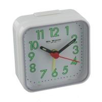 ALARM CLOCK SQUARE WHITE CASE NEW BOXED