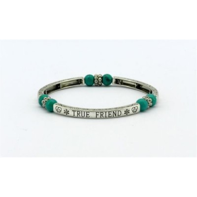 BRACELET TURQUOISE SENTIMENT TRUE FRIEND PURE BY COPPERCRAFT GIFT BOXED