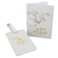 DISNEY DUMBO MY FIRST PASSPORT HOLDER & LUGGAGE TAG GIFT BOXED