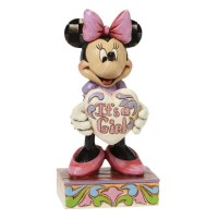 DISNEY TRADITIONS MINNIE MOUSE IT'S A GIRL FIGURINE DISNEY BRANDED BOX RRP £27.00