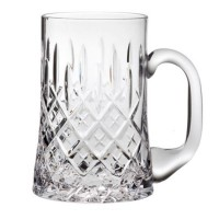 ROYAL SCOT TANKARD 1 PINT LONDON HAND CUT CRYSTAL