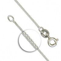 "SILVER CHAIN 16"" STERLING SILVER DIAMOND CUT LIGHT PENDANT CHAIN"