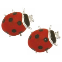 CUFFLINKS ENAMELLED LADYBIRD DESIGN BY DALACO OF ENGLAND
