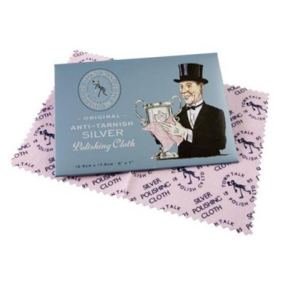 SILVER JEWELLERY CLEANER POLISHING CLOTH TOWN TALK  MADE IN ENGLAND
