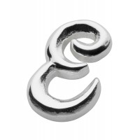 DEW SINGLE INITIAL E STUD EARRING  STERLING SILVER FREE BRANDED GIFT POUCH