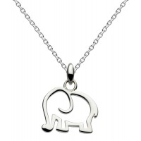 DEW STERLING SILVER ELEPHANT PENDANT FREE BRANDED BOX