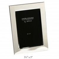 "3.5"" x 5"" PHOTO FRAME SILVERPLATED BOXED"