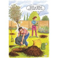 UNDECIDED GARDENER HUMOROUS BIRTHDAY CARD RAINBOW CARDS BY LING