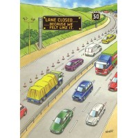 MOTORWAY HUMOUR FUNNY HUMOUROUS BIRTHDAY CARD THE FUNNY SIDE OF LIFE!
