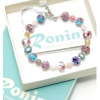 BRACELET JADE CRYSTAL & FRESHWATER PEARL MADE IN WALES BY RONIN BOXED
